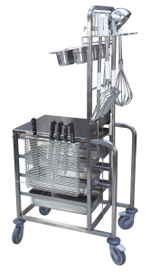 CHARIOT CHEF INOX - OPTION SUPPORT A COUTEAUX