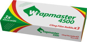 RECHARGE FILM ALIMENTAIRE WRAPMASTER 45 CM (x3)